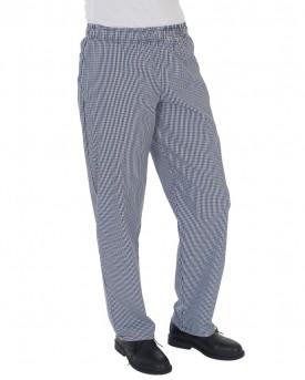 Dennys Blue/White Check Fully Elasticated Trouser