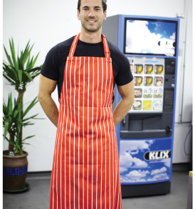 Dennys Large Cotton Striped Apron
