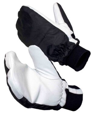 goat leather palm cold store mittens