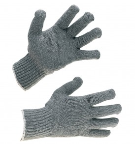 grey mixed fibre glove liners