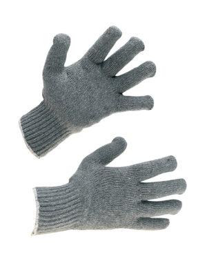 grey mixed fibre glove liners