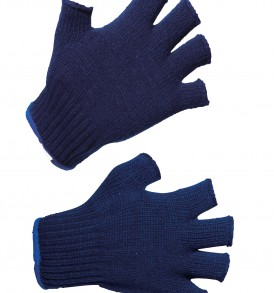 knitted half finger gloves