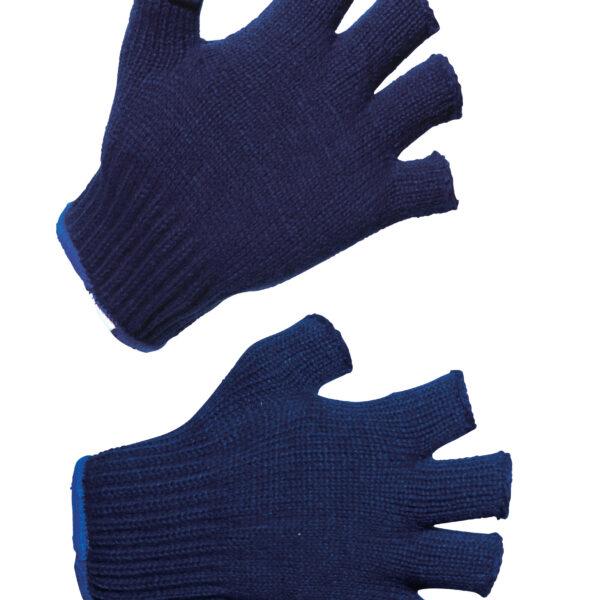 knitted half finger gloves