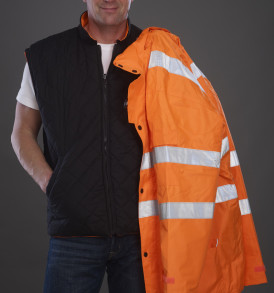 Yoko Hi Vis Multifunction 7-In-1 Jacket