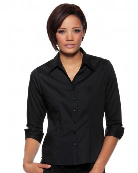 Ladies Three Quarter Sleeve Bar Shirt