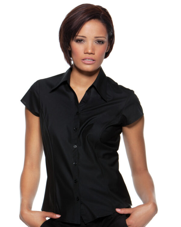 Ladies Cap Sleeve Bar Shirt