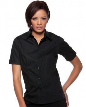 Ladies Mock Turn Back Cuffs Bar Shirt