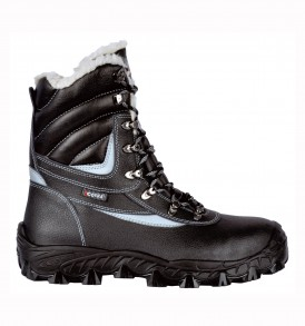 BARENTS laced up boots with non metallic toe-cap