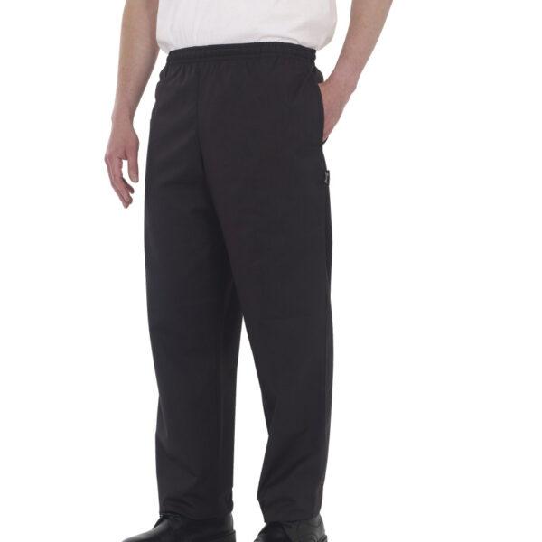 Dennys Black Elasticated Trouser