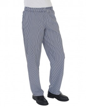 Dennys Blue/White Check Fully Elasticated Trouser