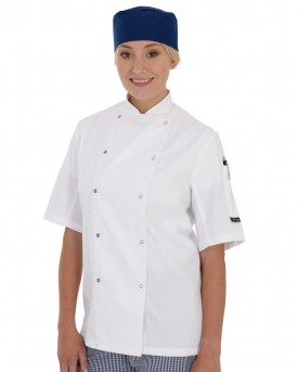 Dennys Short Sleeve Chefs Jacket (Shaped)