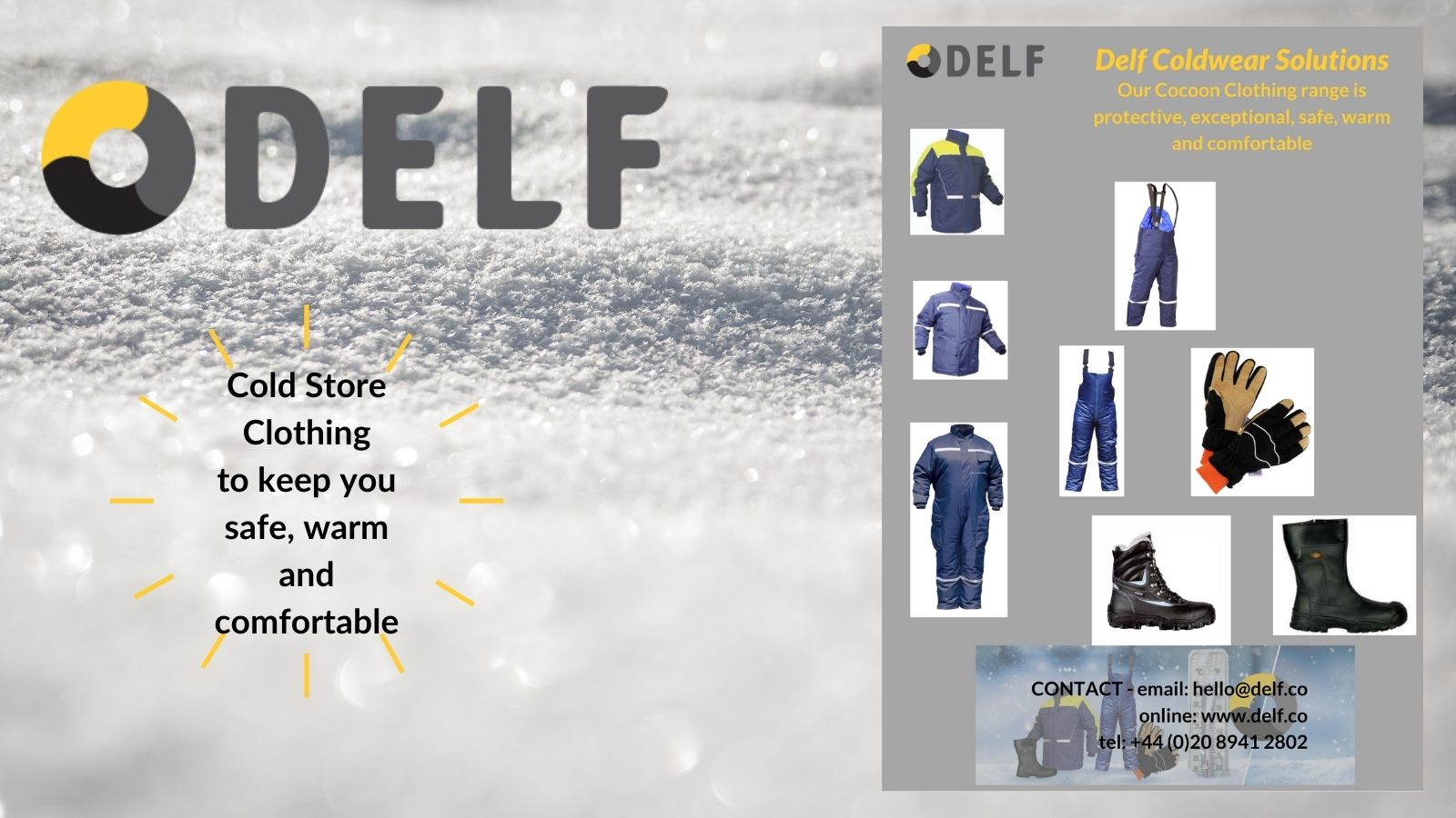 Cold store clothing