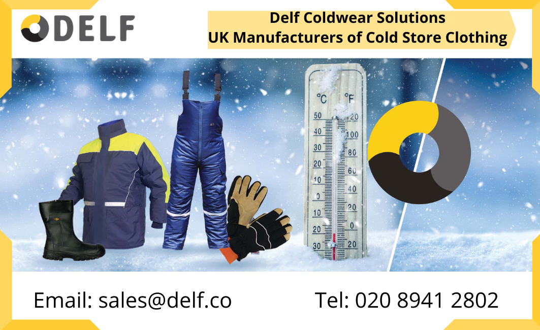 Delf's UK Manufactured Cold Storage Clothing Is Available without Tariffs for British Customers