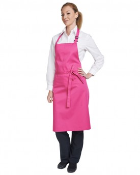 Multi-coloured bib apron