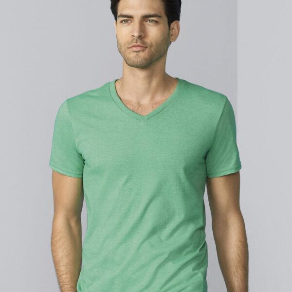 softstyle adult v neck t shirt