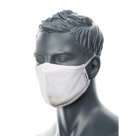 Anti-microbial 2 ply Fabric Face Mask White