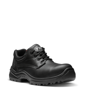V12 Oxen Black Metal Free Derby Shoes