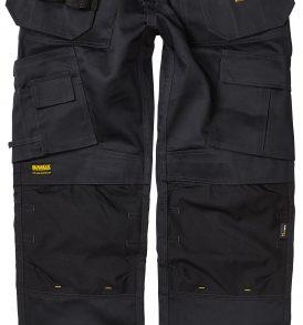 De Walt Pro-Tradesman Black Knee Pad Holster Trousers